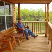 Porch on Cabin -Beautiful View from Porch