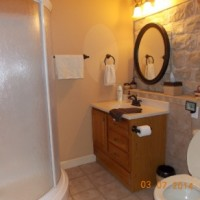 Guest bathroom -Great rock and tile accents