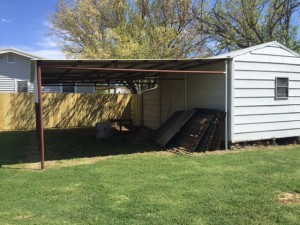 Storage Shed and Carport